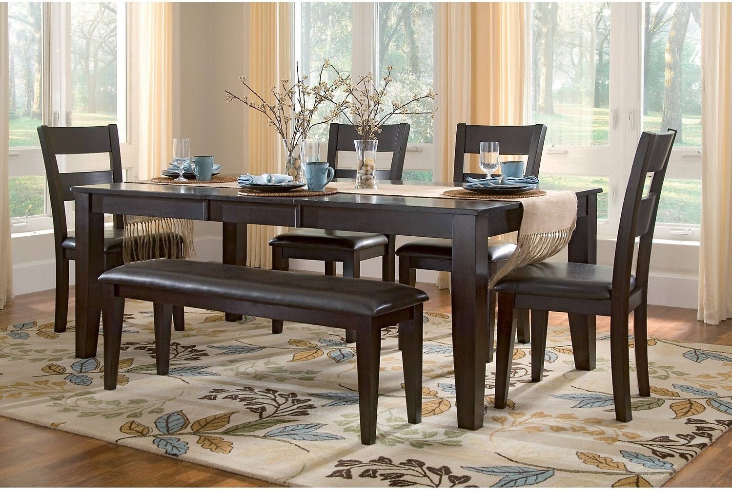 Dakota 5 piece casual dining package the brick for Casual dining room sets