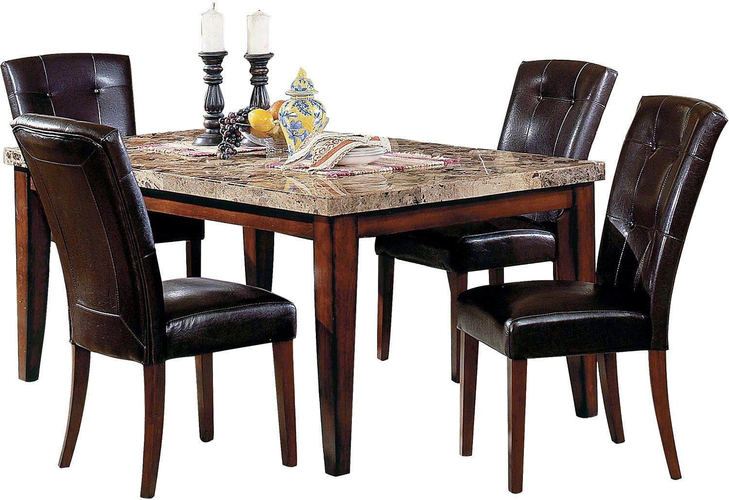 Dining Room Furniture - Montibello Formal 5-Piece Dining Package