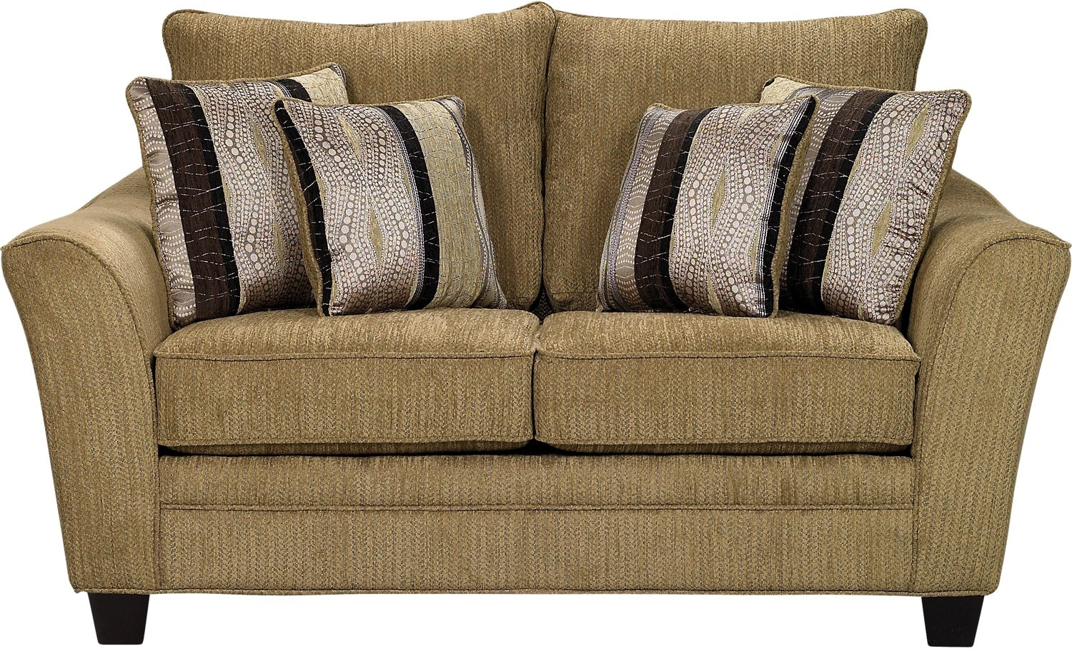 Living Room Furniture - Allen Chenille Loveseat – Taupe