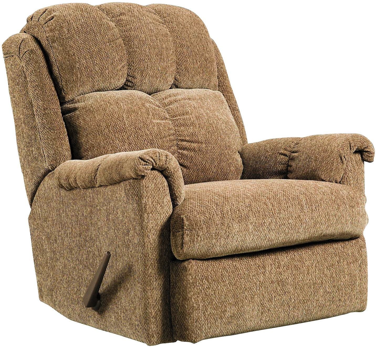 Brown chenille rocker recliner the brick - Fabric rocking chairs living room ...