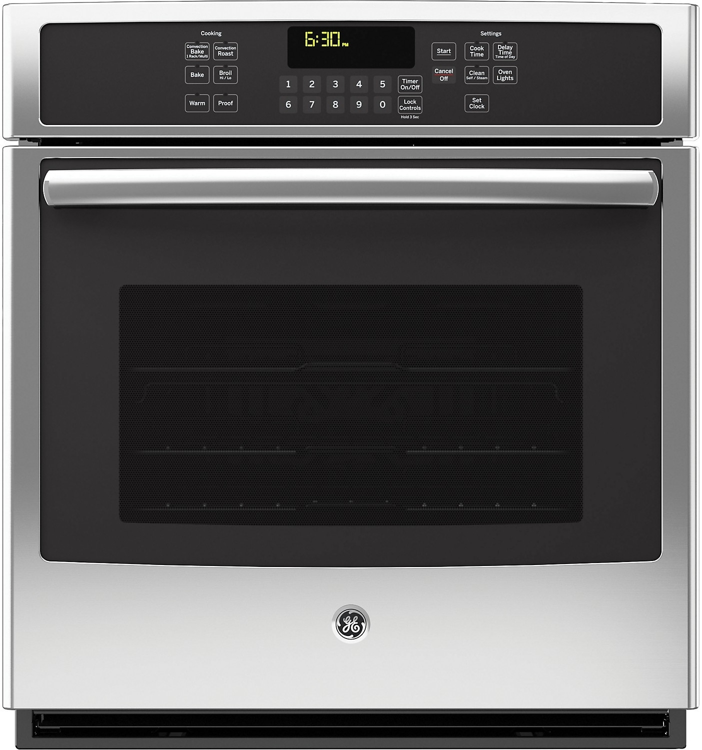"Cooking Products - GE 27"" Electric Convection Single Wall Oven – Stainless Steel"