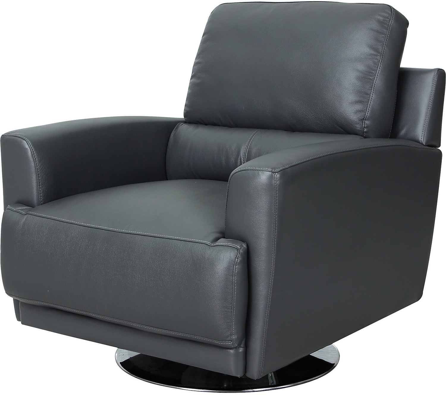 nico genuine leather swivel chair grey united furniture warehouse. Black Bedroom Furniture Sets. Home Design Ideas