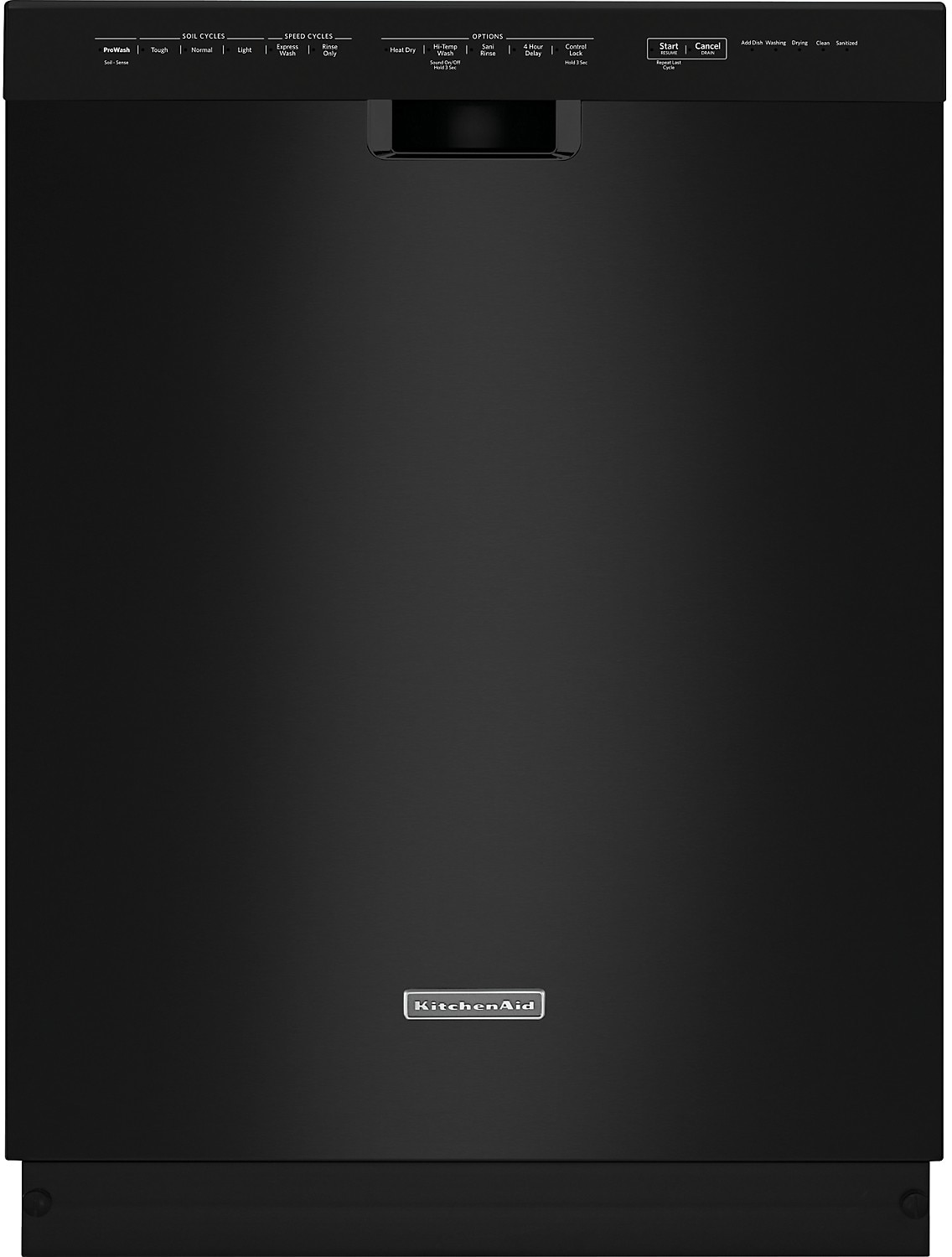 "Clean-Up - KitchenAid 24"" Built-In Dishwasher - Black"