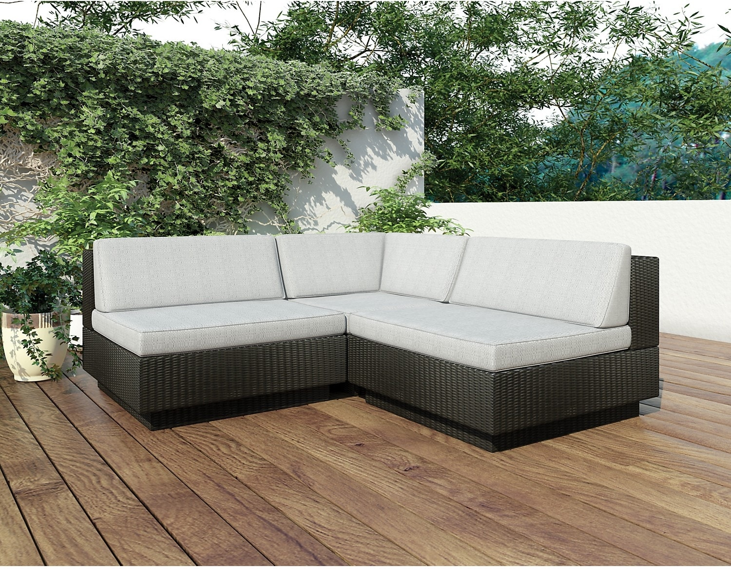 Outdoor Furniture - Parkview Patio Sectional - Black