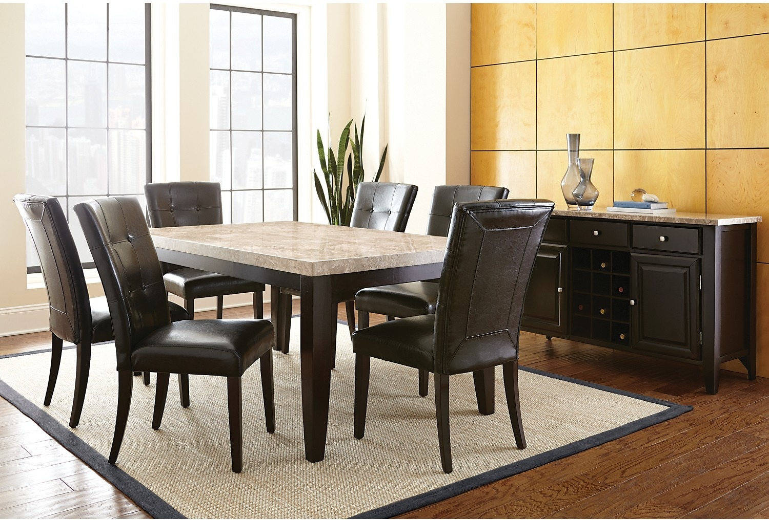 Dining Room Furniture - Montibello 8-Piece Dining Package