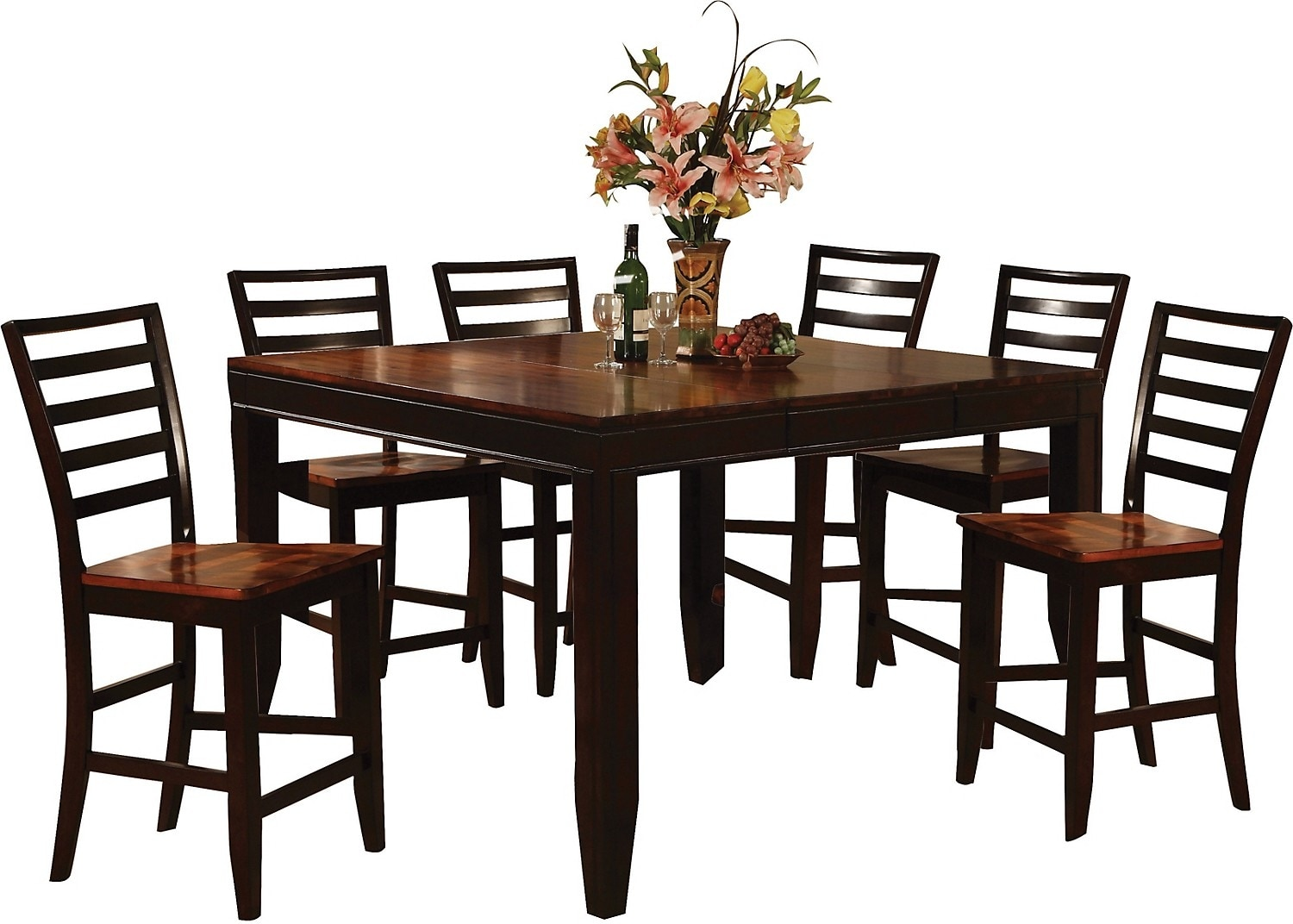 Dining Room Furniture - Zara 7-Piece Counter-Height Dining Package