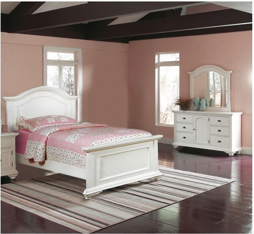 Bedroom Furniture - Brook 5-Piece Full Bedroom Set – Off-White