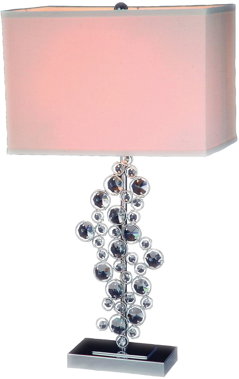 Home Accessories - Chrome and Faux Crystal Table Lamp
