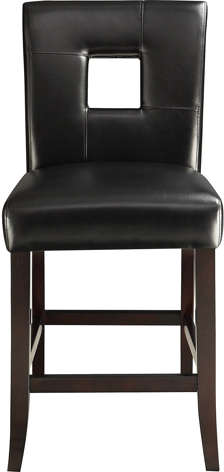 mckena counter height dining chair black the brick