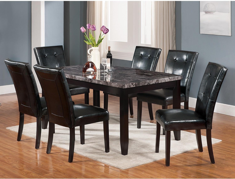 Dining Room Furniture - Tahoe 5-Piece Dark Grey Dining Package