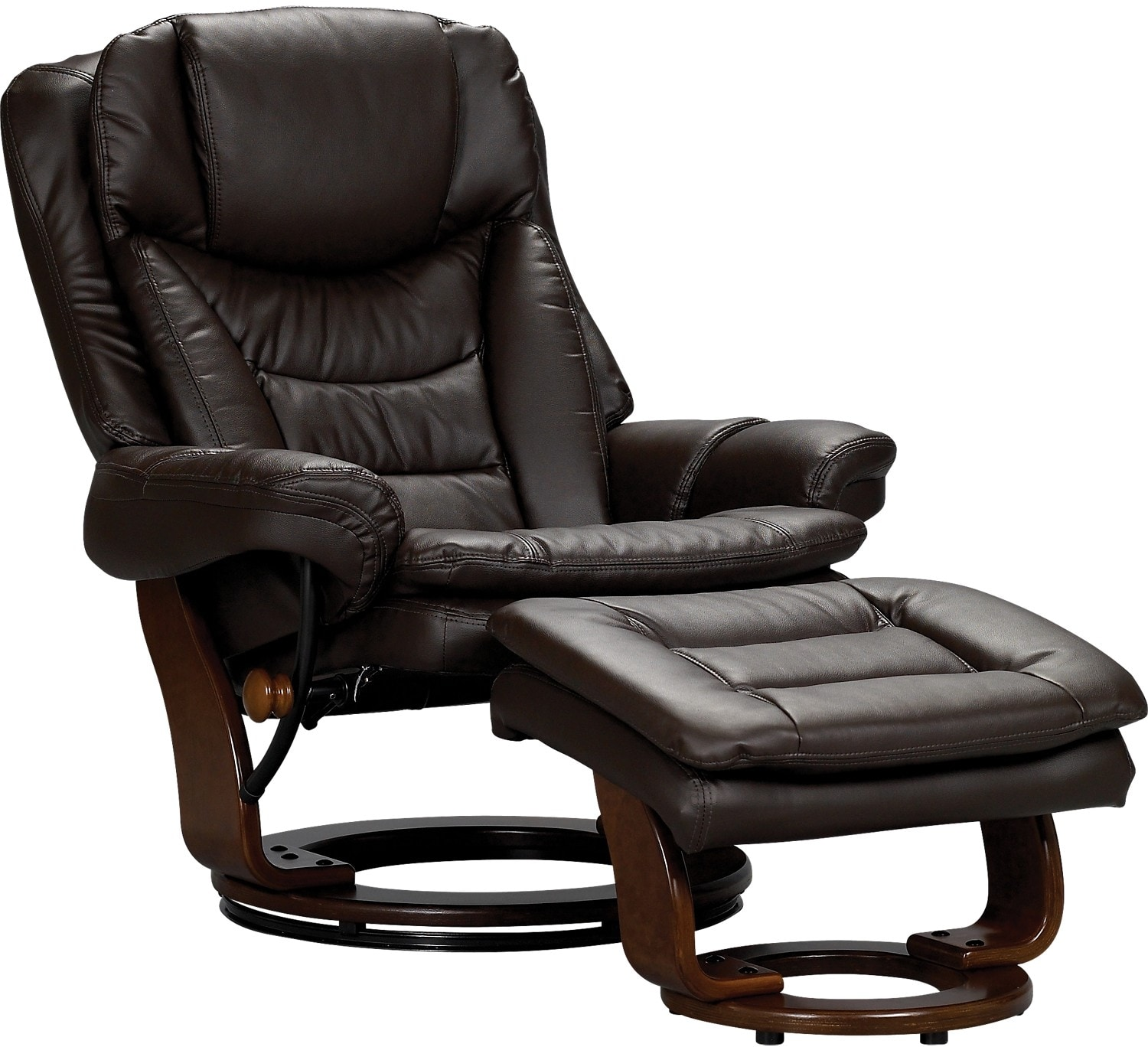 living room furniture flynn bonded leather reclining chair