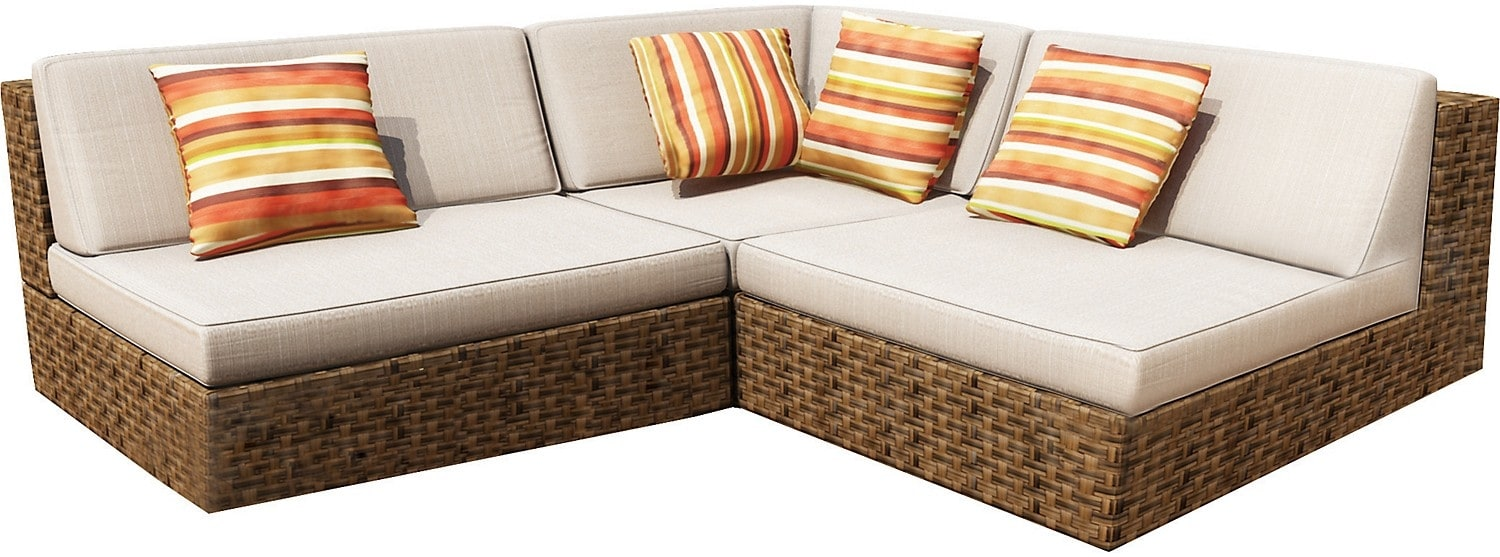 Outdoor Furniture - PARK BROWN SECTIONAL
