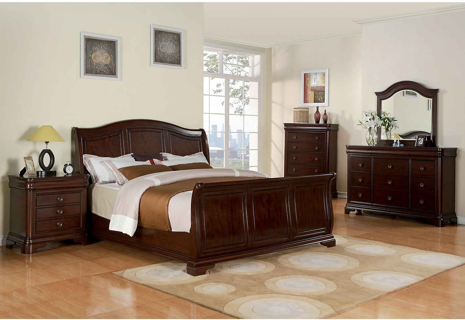 bedroom furniture cameron 6 piece king bedroom set
