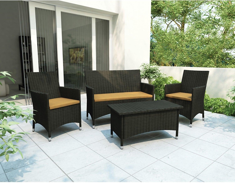 Mobilier de jardin cascade 4 pi ces brick for Liquidation meubles patio