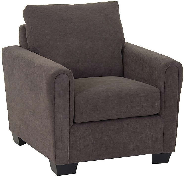 Fauteuil de la collection Spa en chenille - anthracite