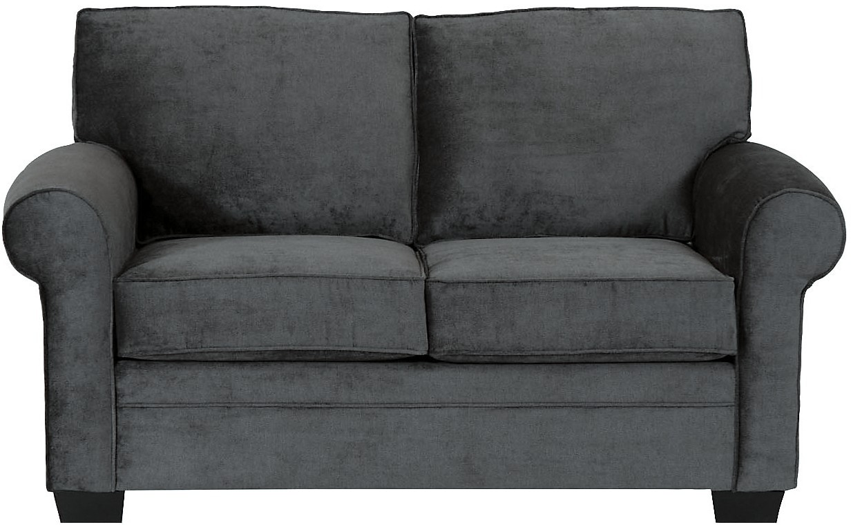 Living Room Furniture - Designed2B Dov Chenille Loveseat – Charcoal