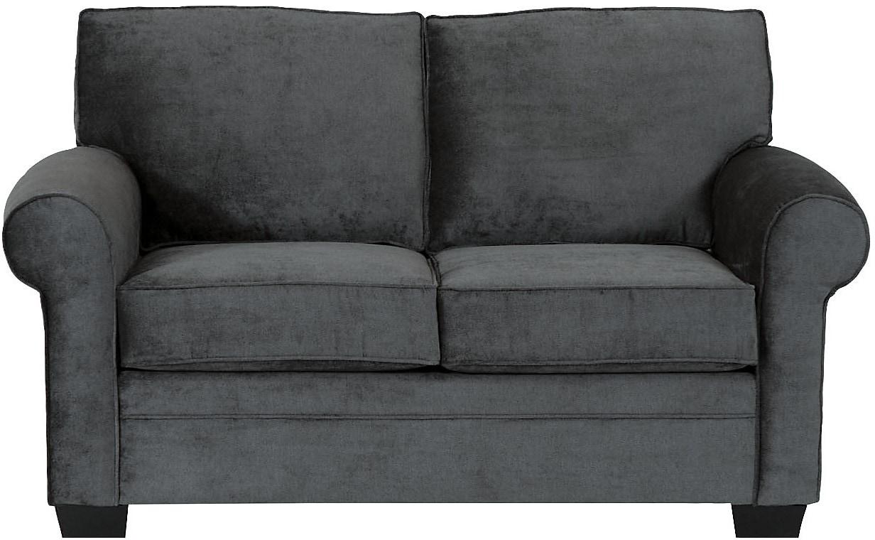 Living Room Furniture - Designed2B Dov Chenille Loveseat – Charcoal