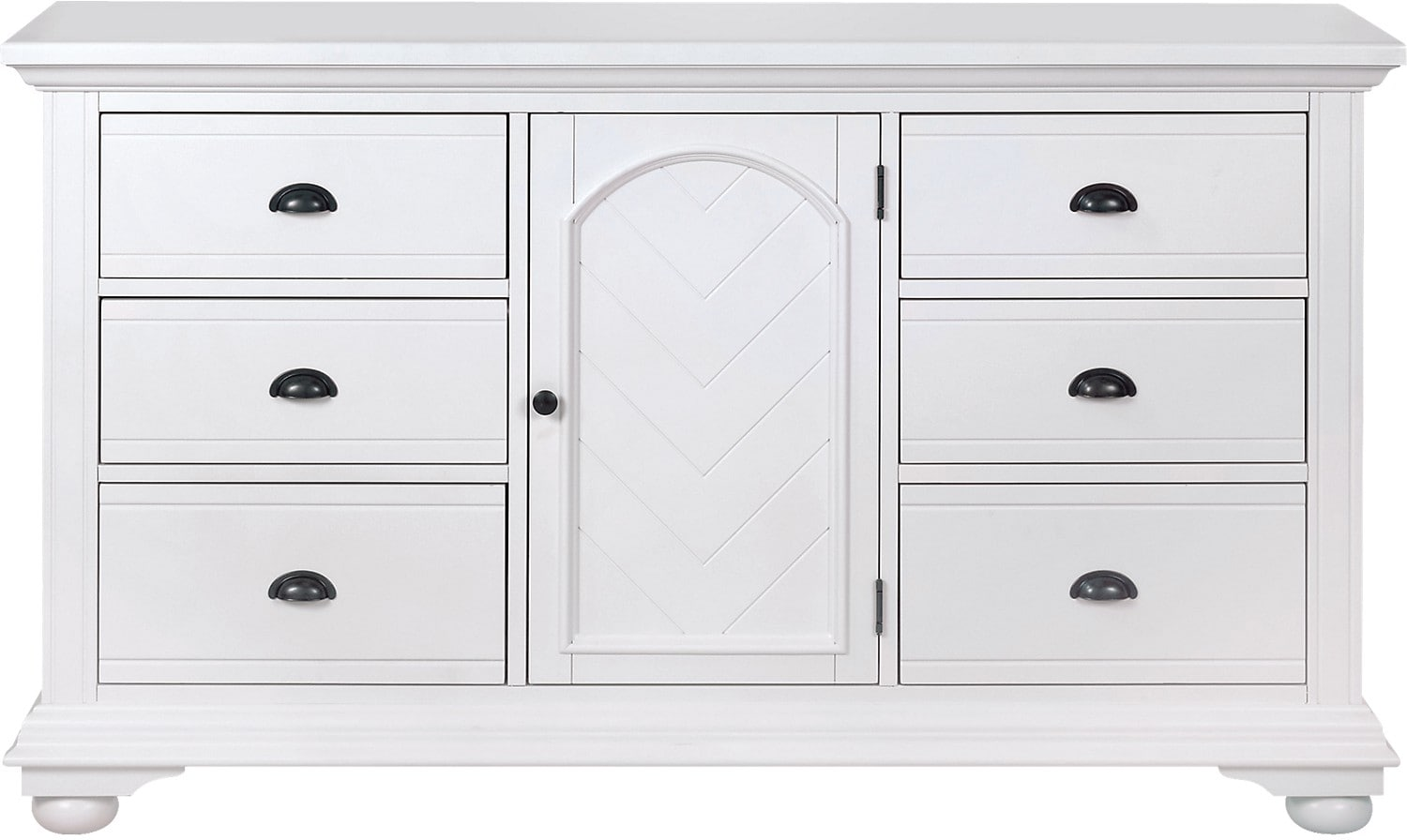 Brook Off-White Finish Dresser