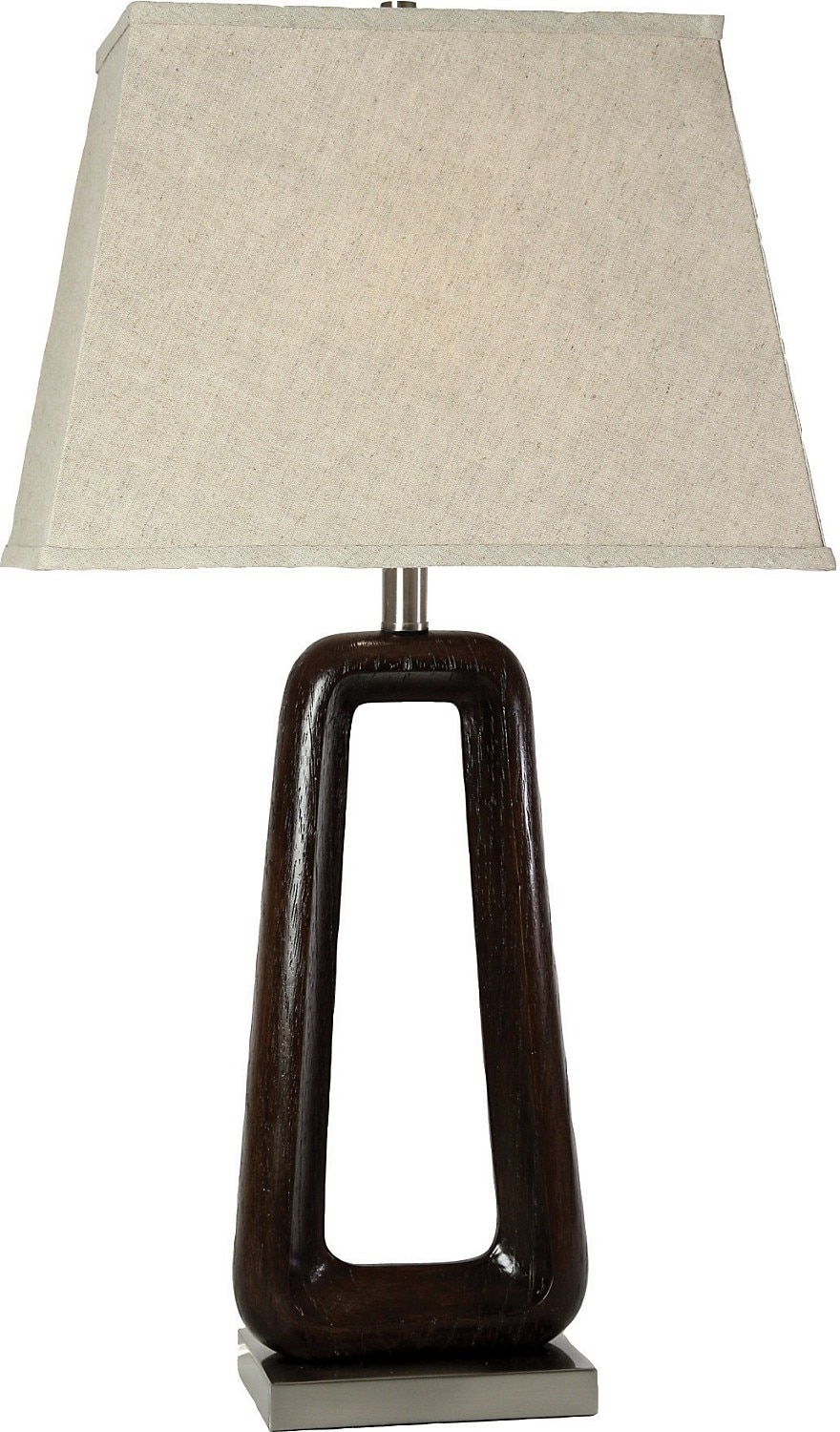 Home Accessories - Brushed Steel and Walnut Table Lamp