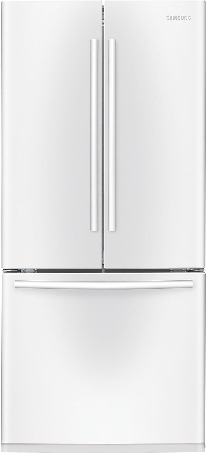 Refrigerators and Freezers - Samsung 21.6 Cu. Ft. 3-Door French Door Refrigerator - White