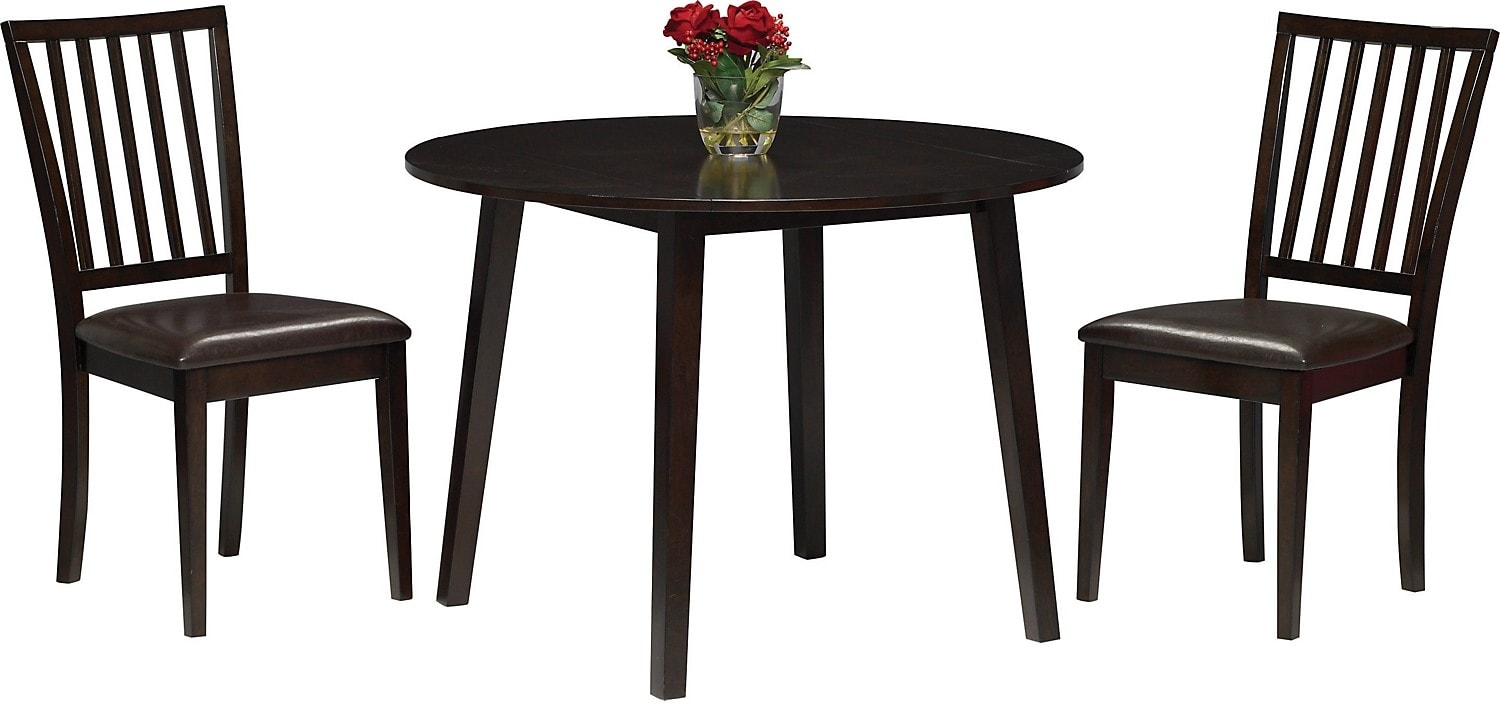 Dakota 3-Piece Round Table Dining Package