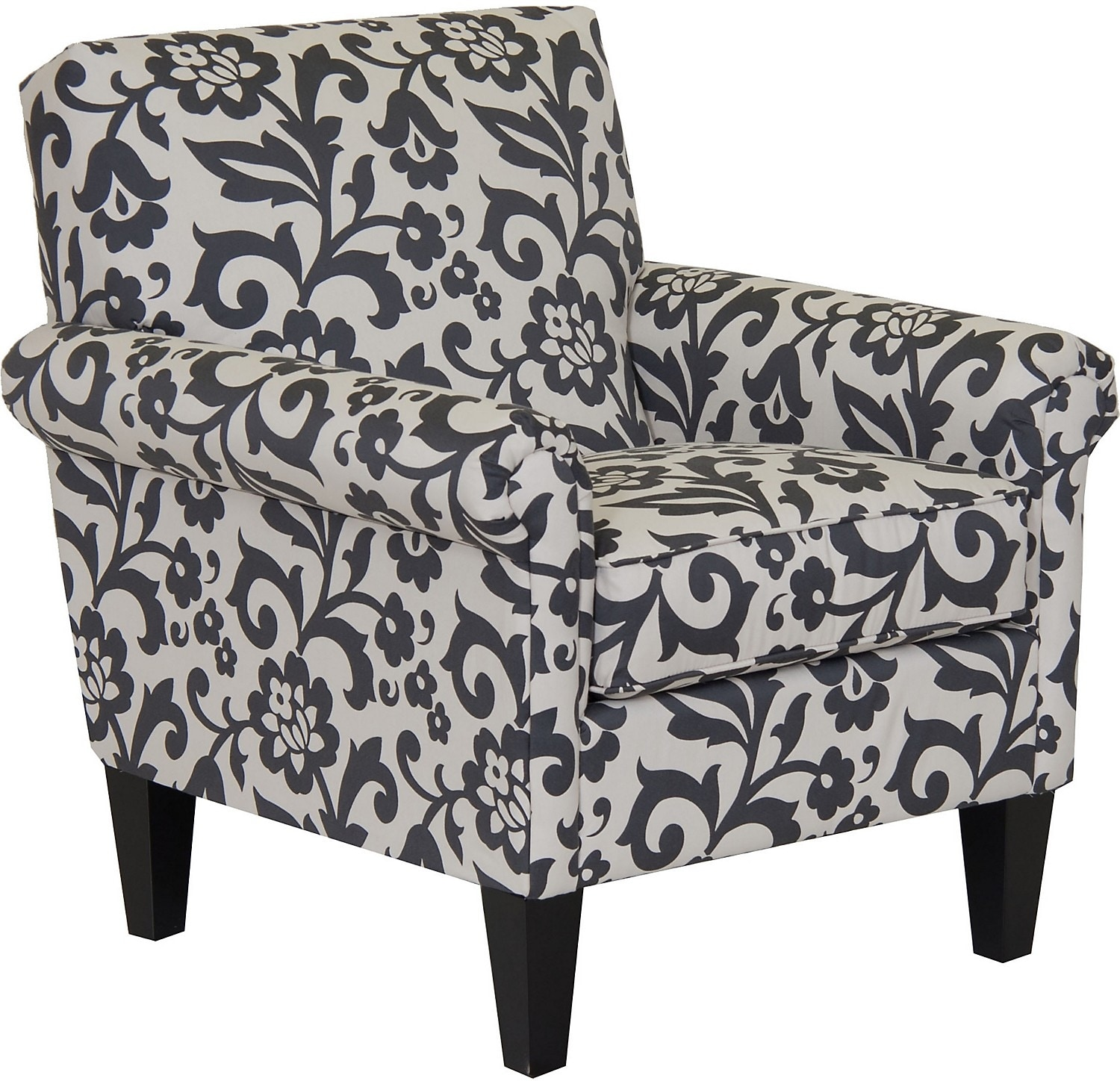 Living Room Furniture - Designed2B Fabric Accent Chair with Rolled Arms - Dove