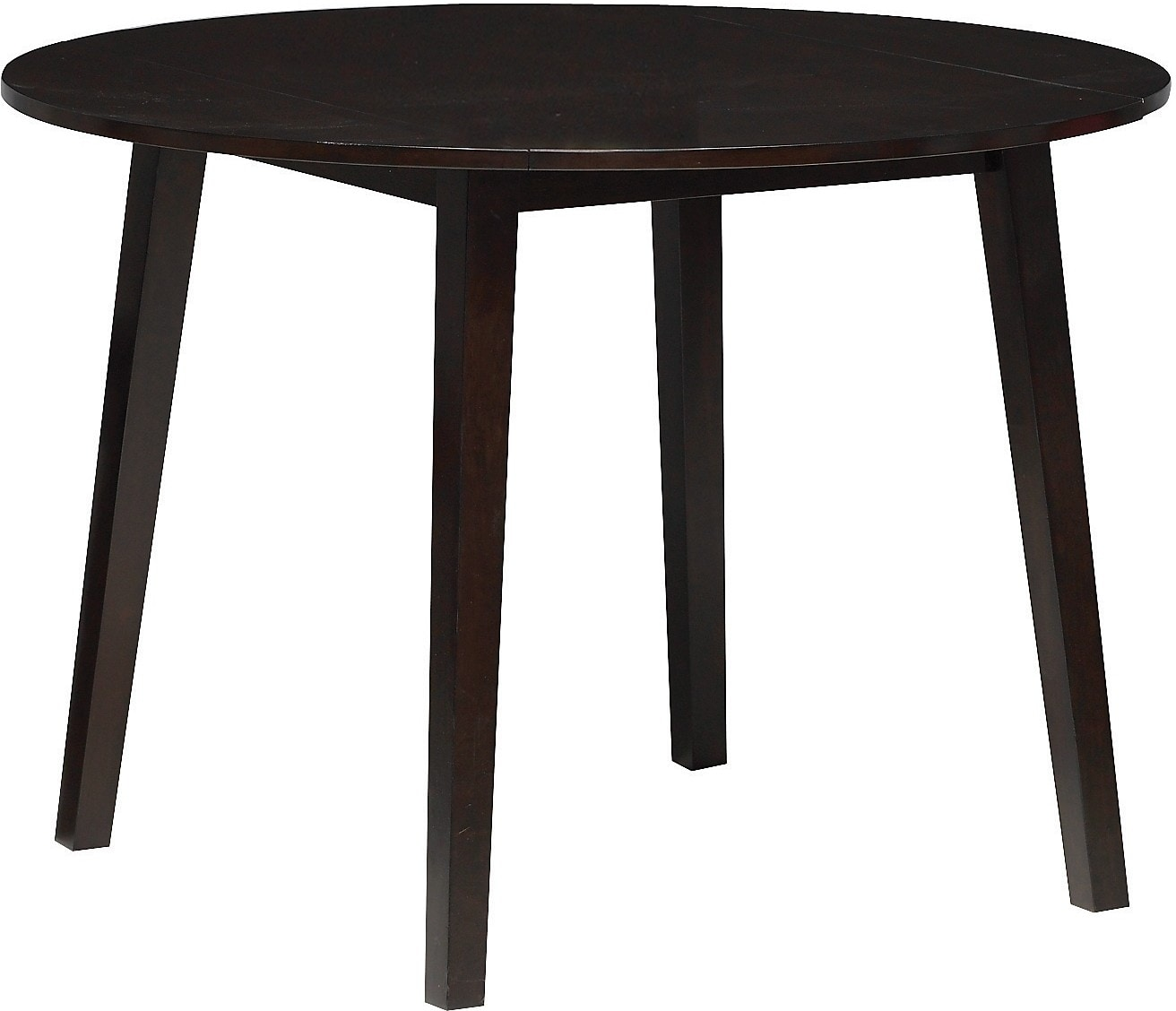 Adara round drop leaf dining table the brick for Dining room tables drop leaf
