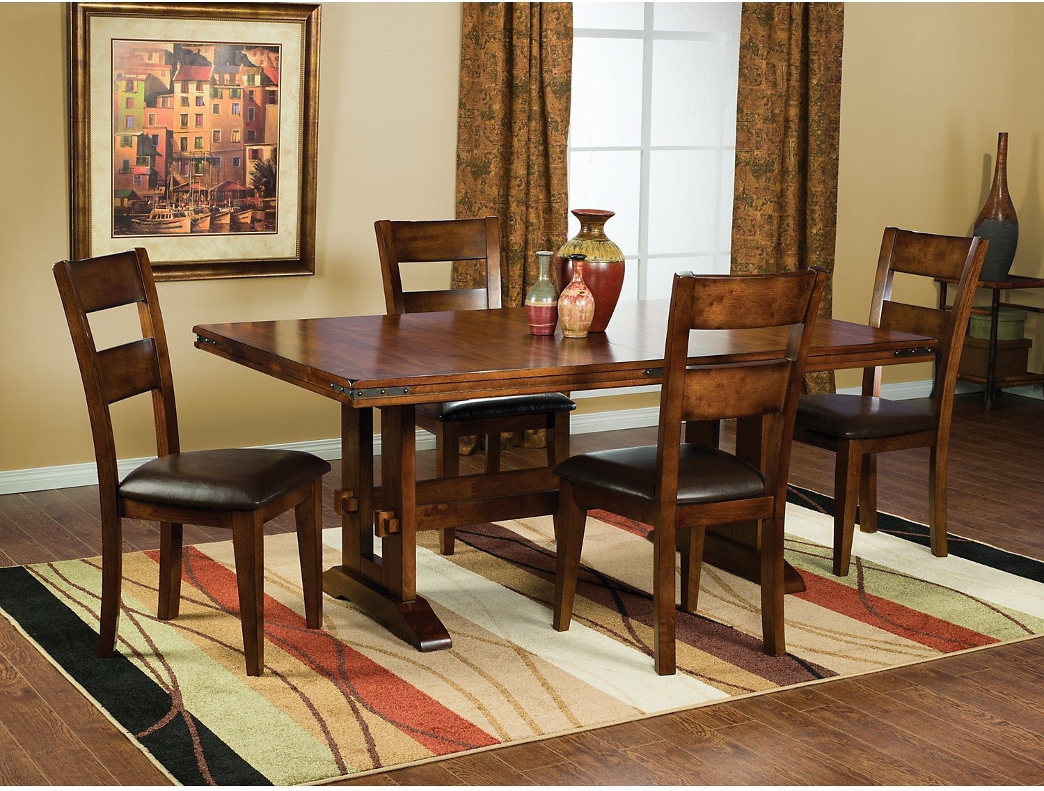 Magnus 5 piece dining package the brick for Dining room tables the brick