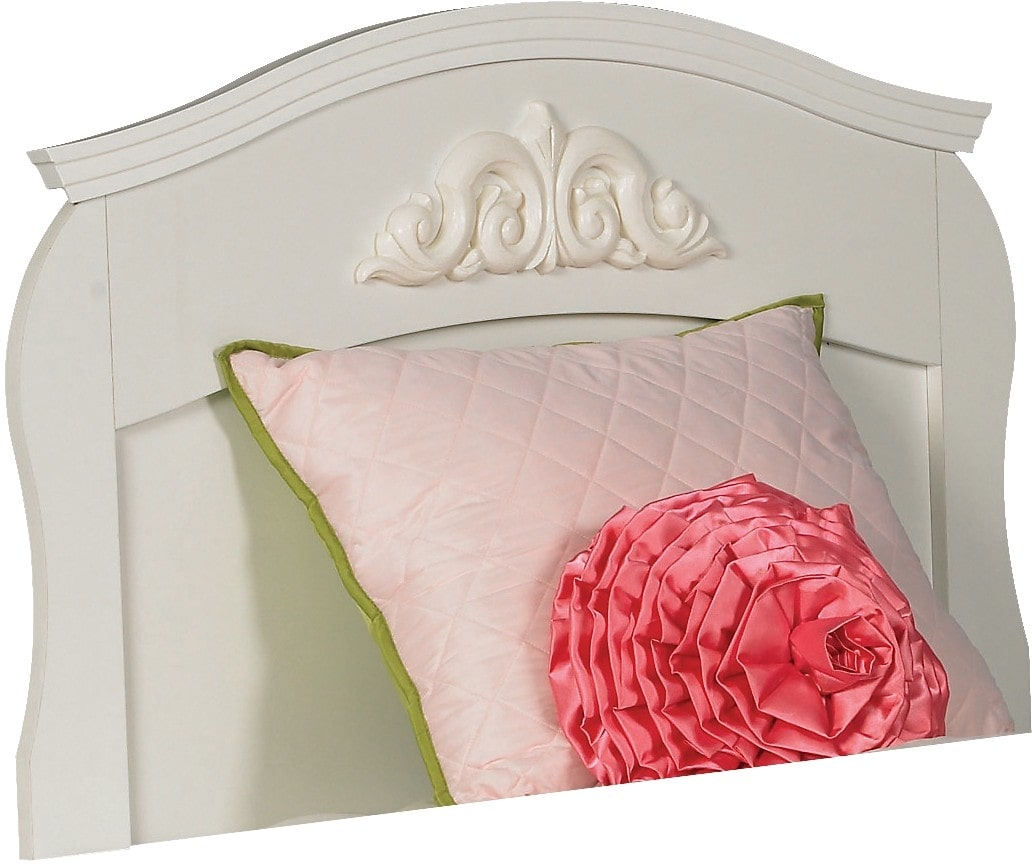 Kids Furniture - Diamond Dreams Twin Panel Headboard – White