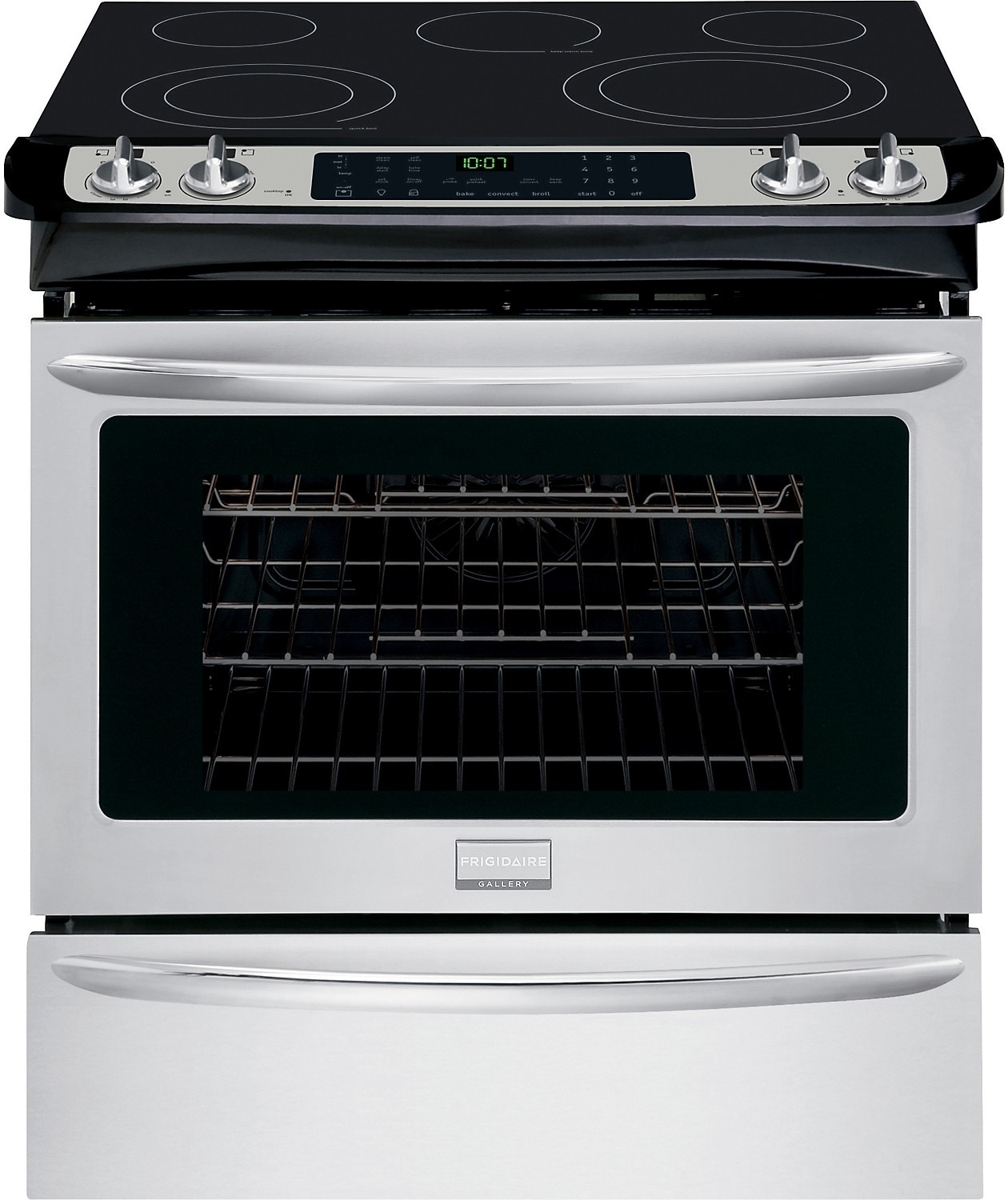 """Cooking Products - Frigidaire Gallery 30"""" Slide-In Self-Cleaning Electric Range – Stainless Steel"""