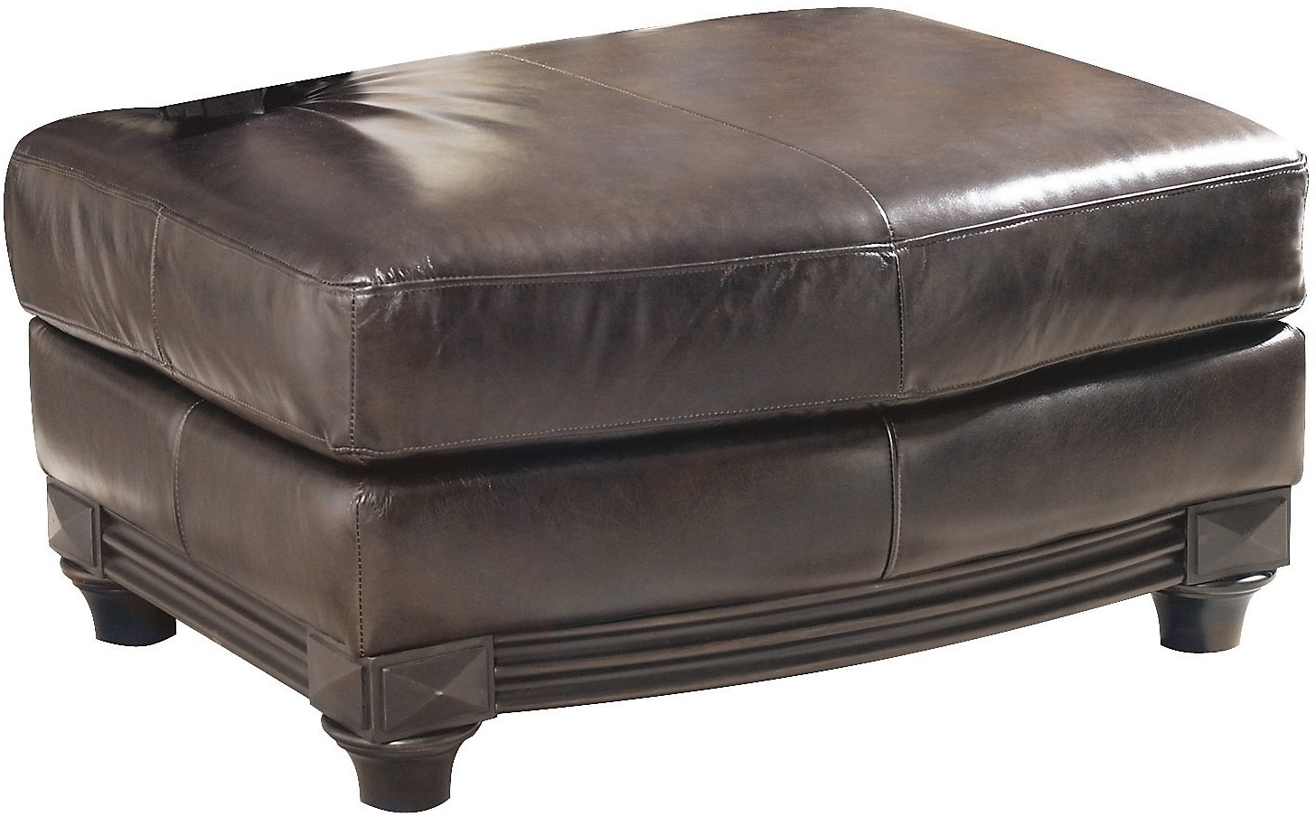 Prestige 100% Genuine Leather Ottoman – Brown