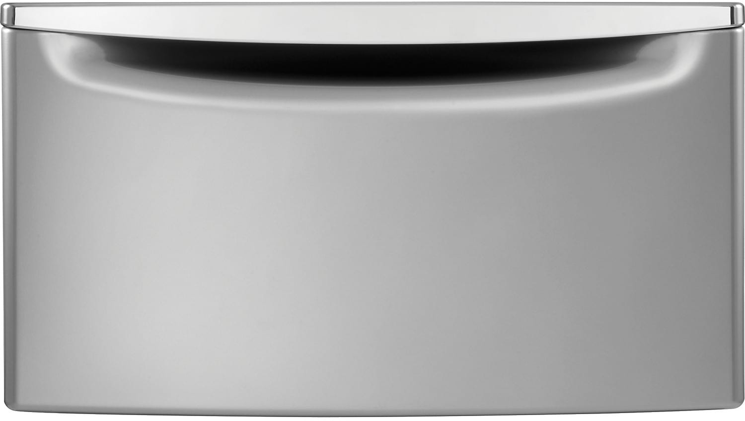 "Appliance Accessories - Whirlpool 15.5"" H Laundry Pedestal w/Storage Drawer - Chrome Shadow"