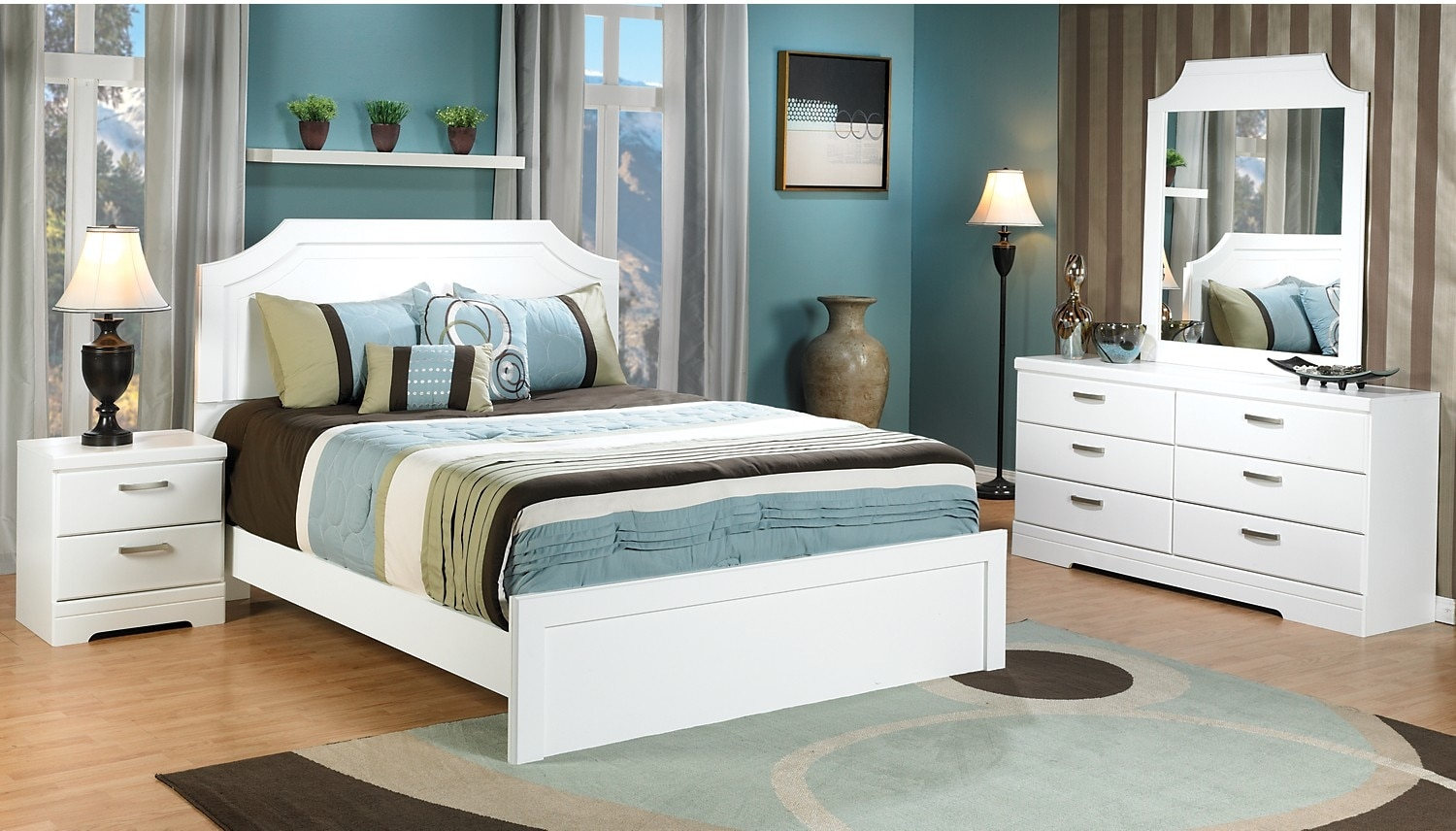 Bedroom Furniture - Bianco 7-Piece Queen Bedroom Package