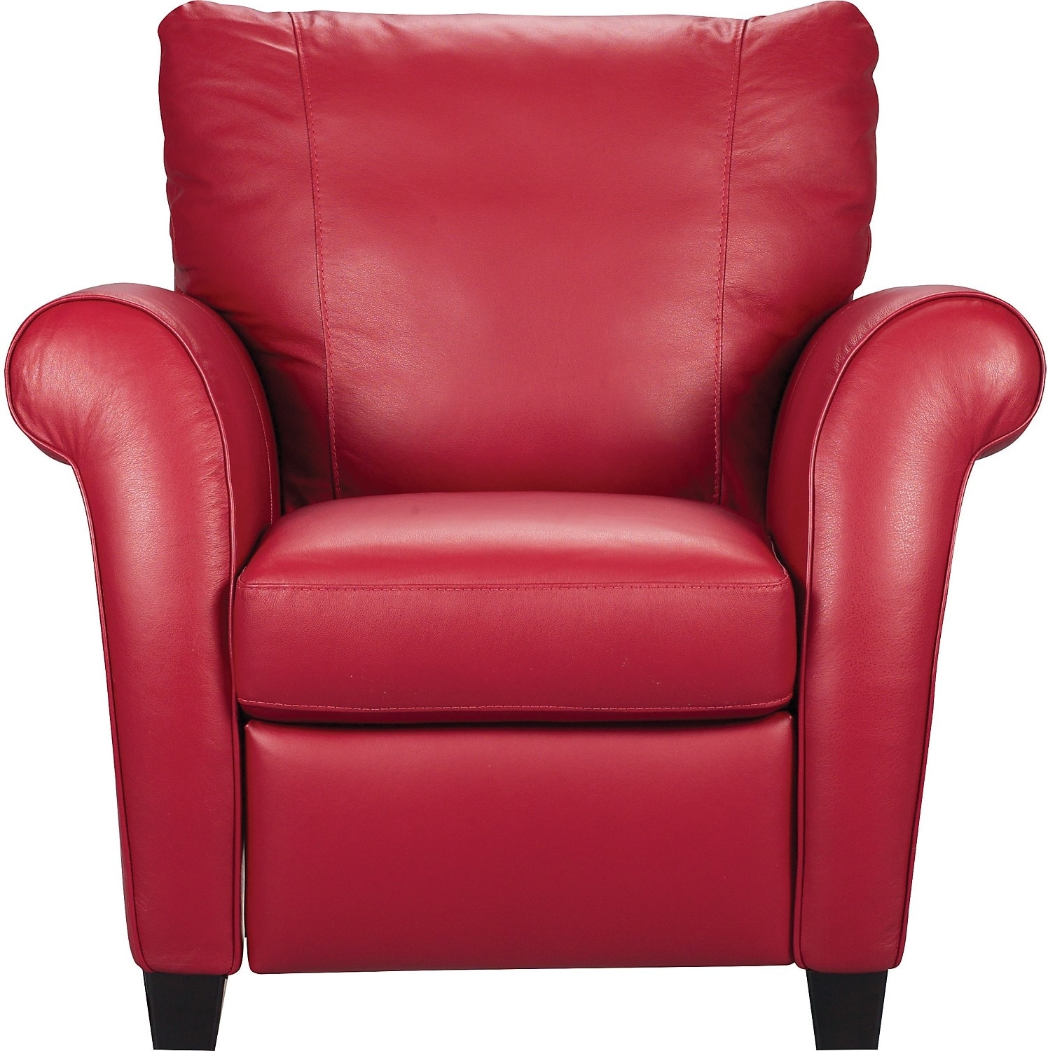 Living Room Furniture - Layla Genuine Leather Reclining Chair – Red