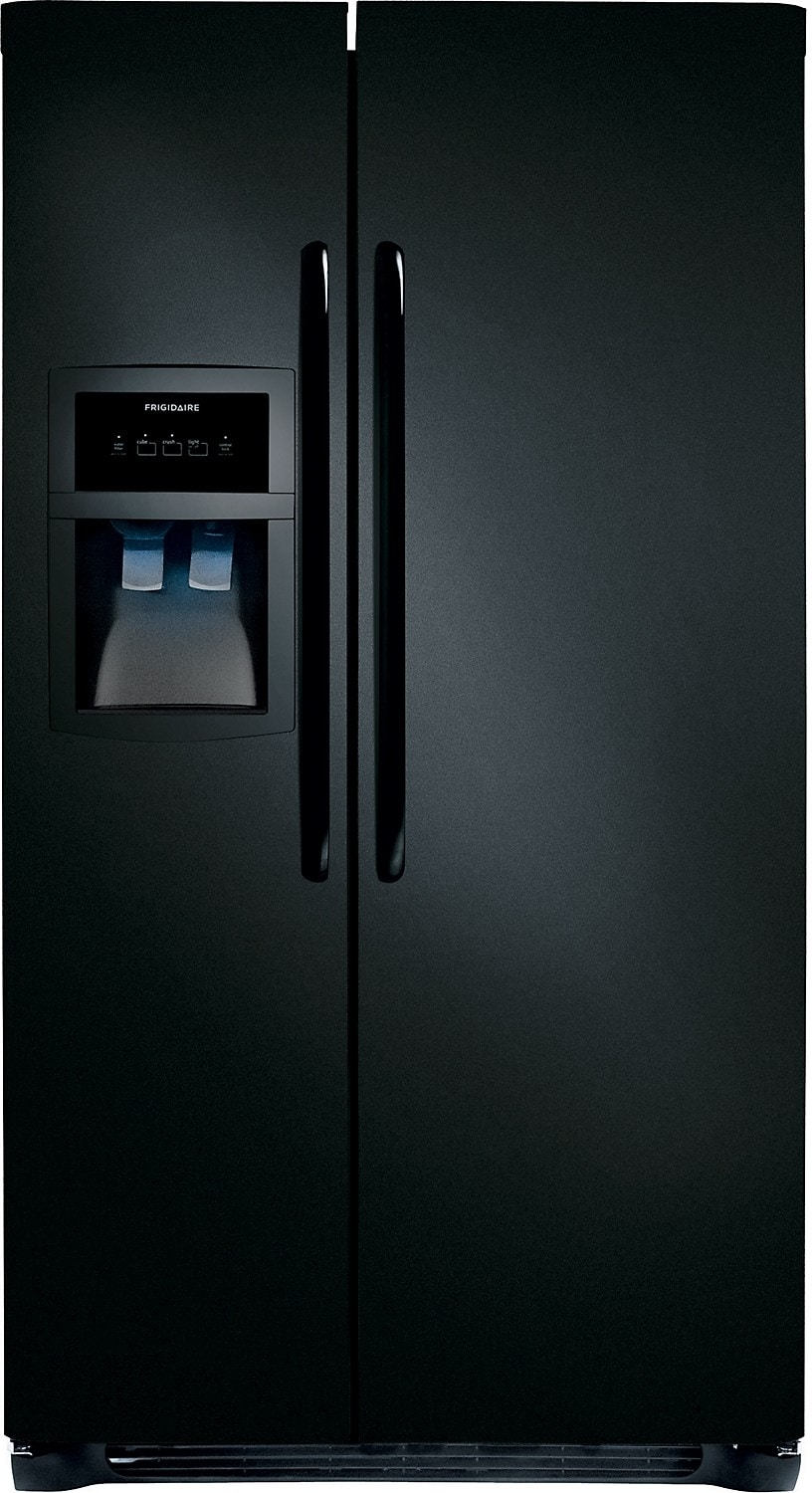 Frigidaire 23 Cu. Ft. Standard-Depth Side-by-Side Refrigerator - Black