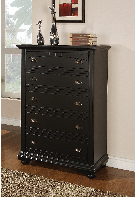 Bedroom Furniture - Brook Black Chest