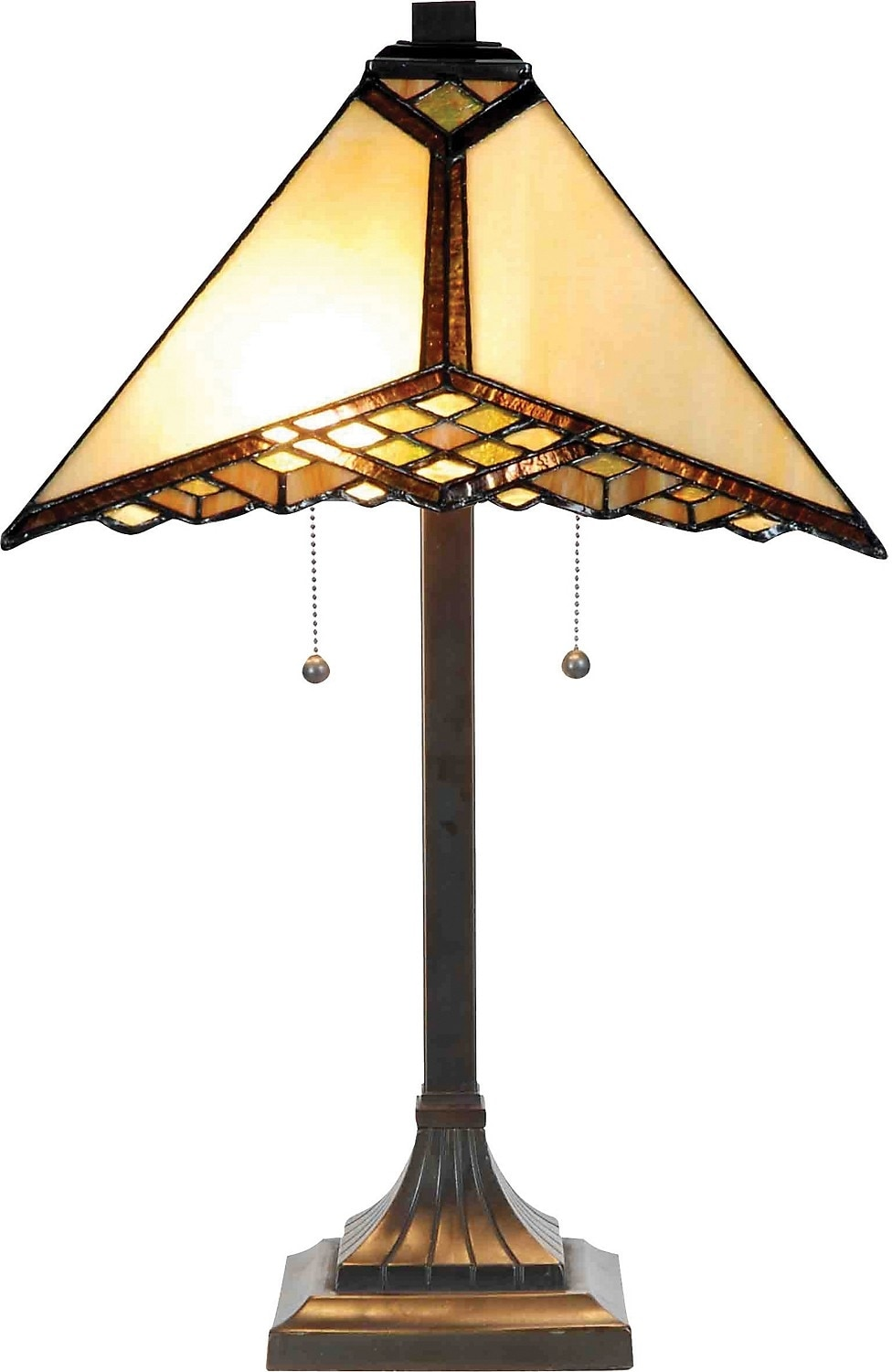 Hamilton Table Lamp with Stained Glass Shade