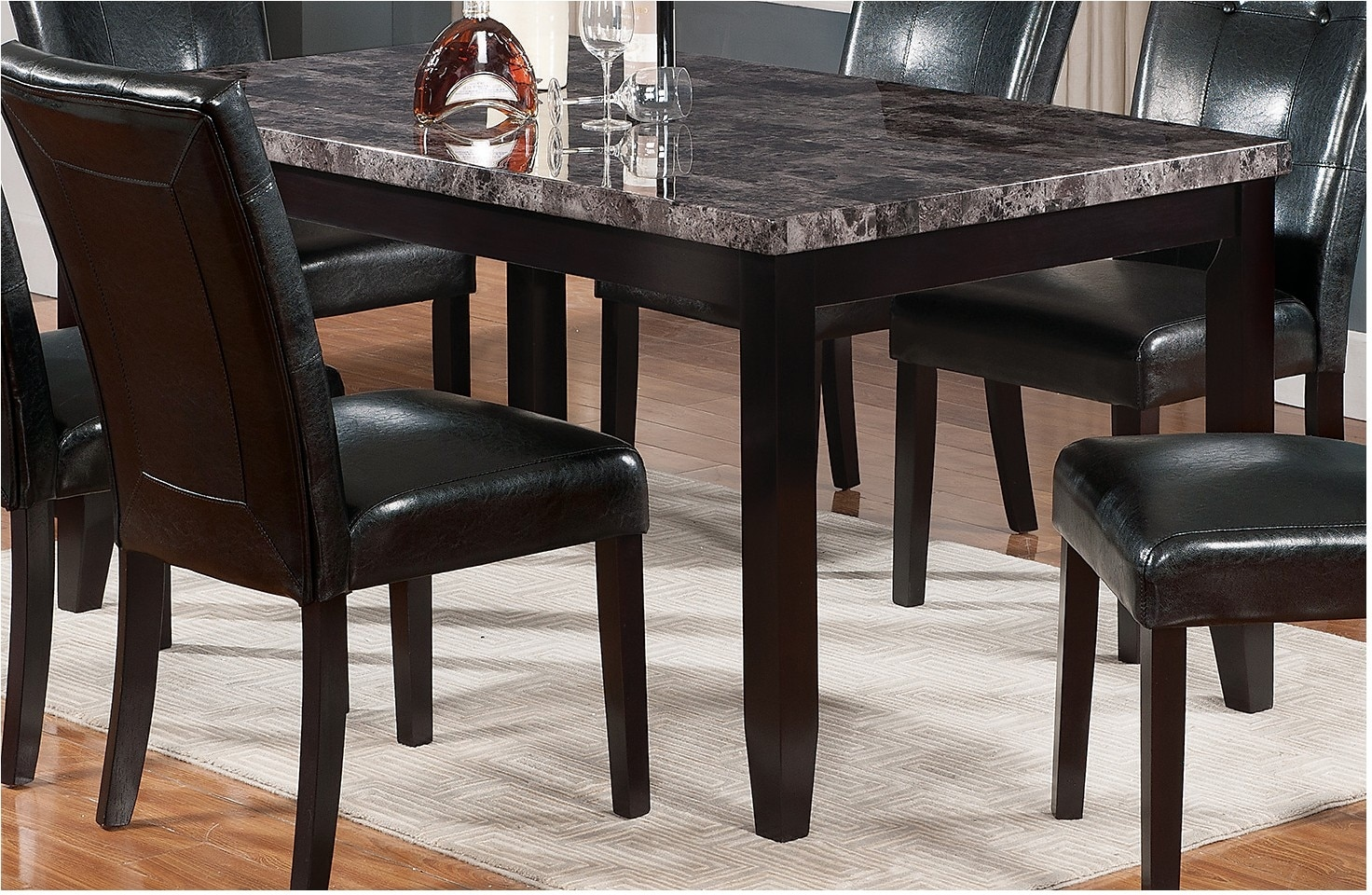 Dining Room Furniture - Tahoe Faux Marble Dining Table