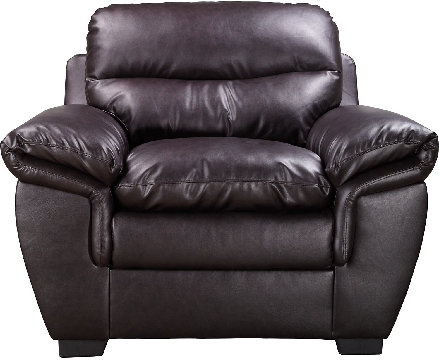 Living Room Furniture - E6 Brown Bonded Leather Chair