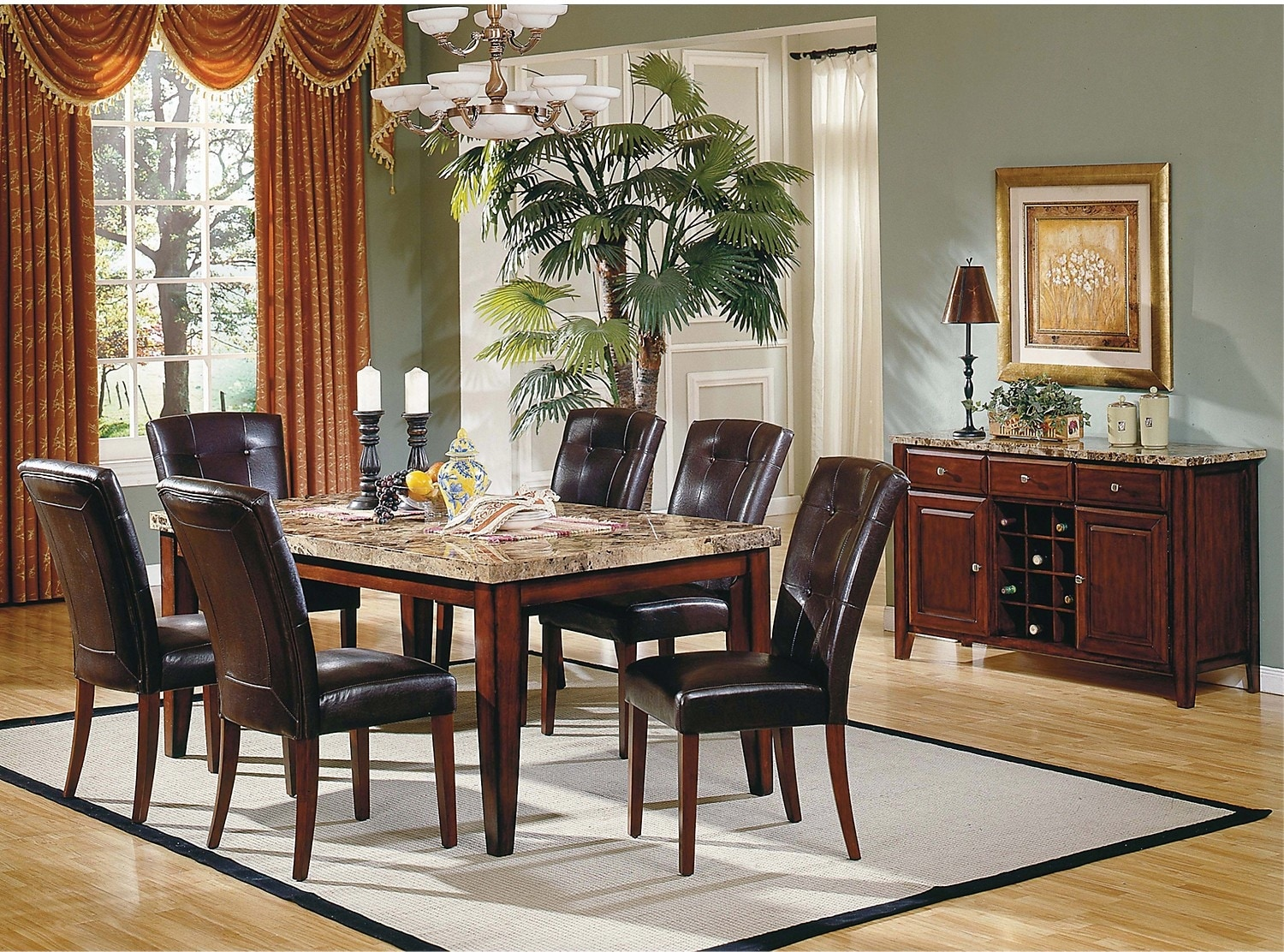 Dining Room Furniture - Montibello Formal 8-Piece Dining Package
