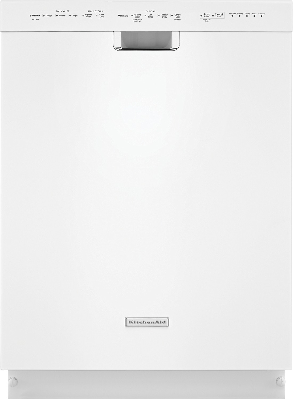 "Clean-Up - KitchenAid 24"" Built-In Dishwasher - White"