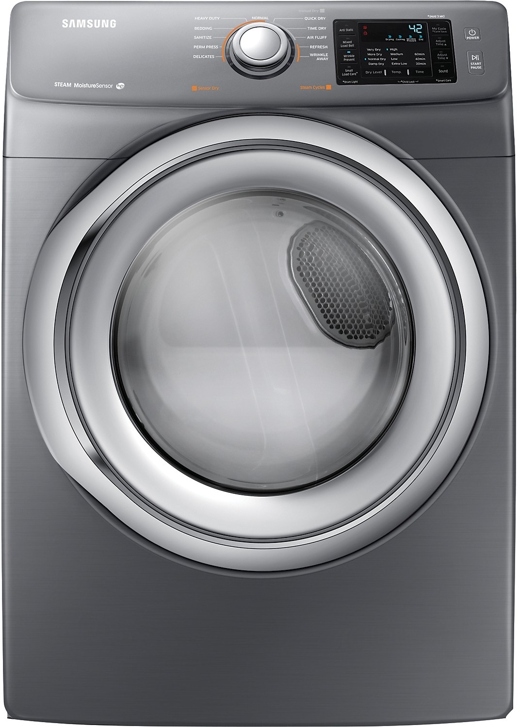 Washers and Dryers - Samsung 7.5 Cu. Ft. Electric Dryer - Platinum