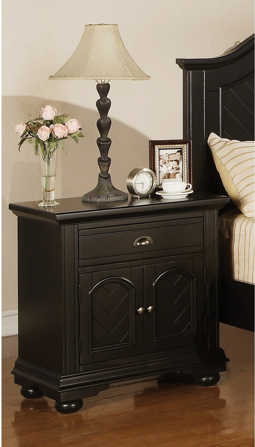 Bedroom Furniture - Brook Black Night Table
