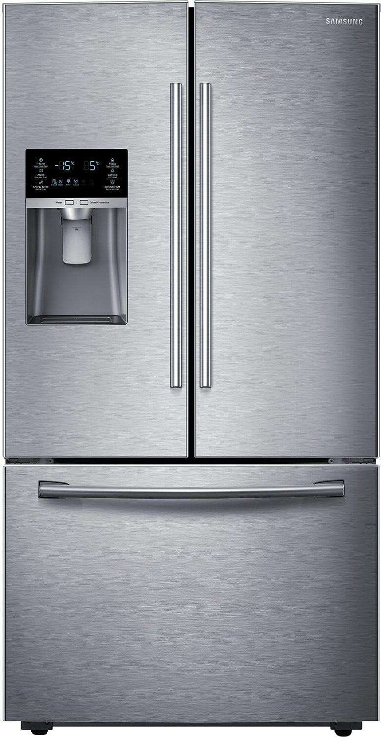Refrigerators and Freezers - Samsung 23 Cu. Ft. French Door Bottom-Mount Refrigerator – Stainless Steel
