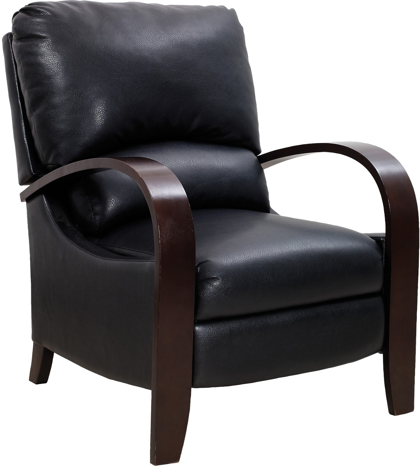 black living room chair aaron black reclining accent chair the brick 12688