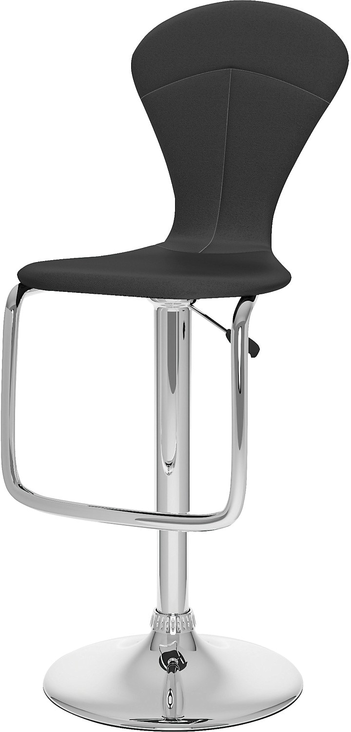 Dining Room Furniture - CorLiving Tapered Full Back Adjustable Bar Stool - Black