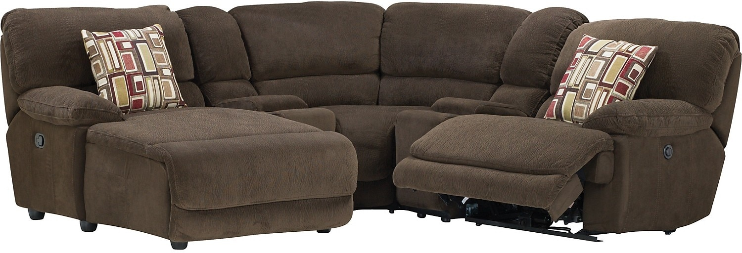 Living Room Furniture - Devon 5-Piece Sofa Package w/Left-Chaise, Corner and 2 Consoles