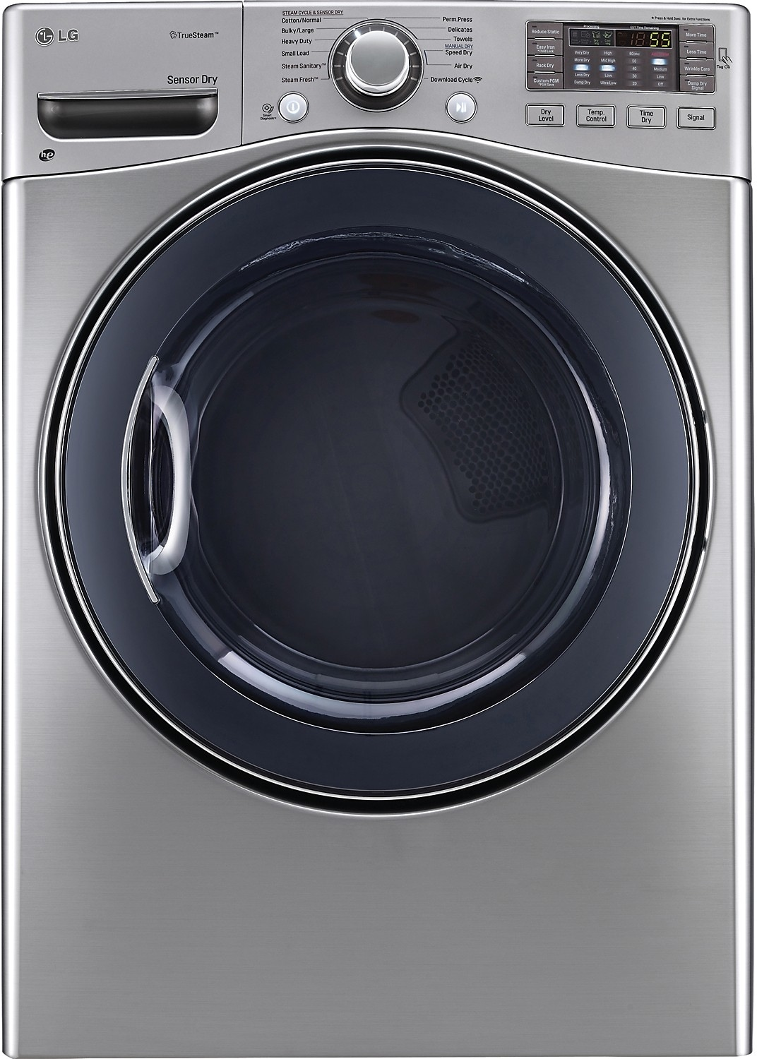 Washers and Dryers - LG 7.4 Cu. Ft. Ultra-Large Capacity High-Efficiency Gas SteamDryer™ – Graphite Steel