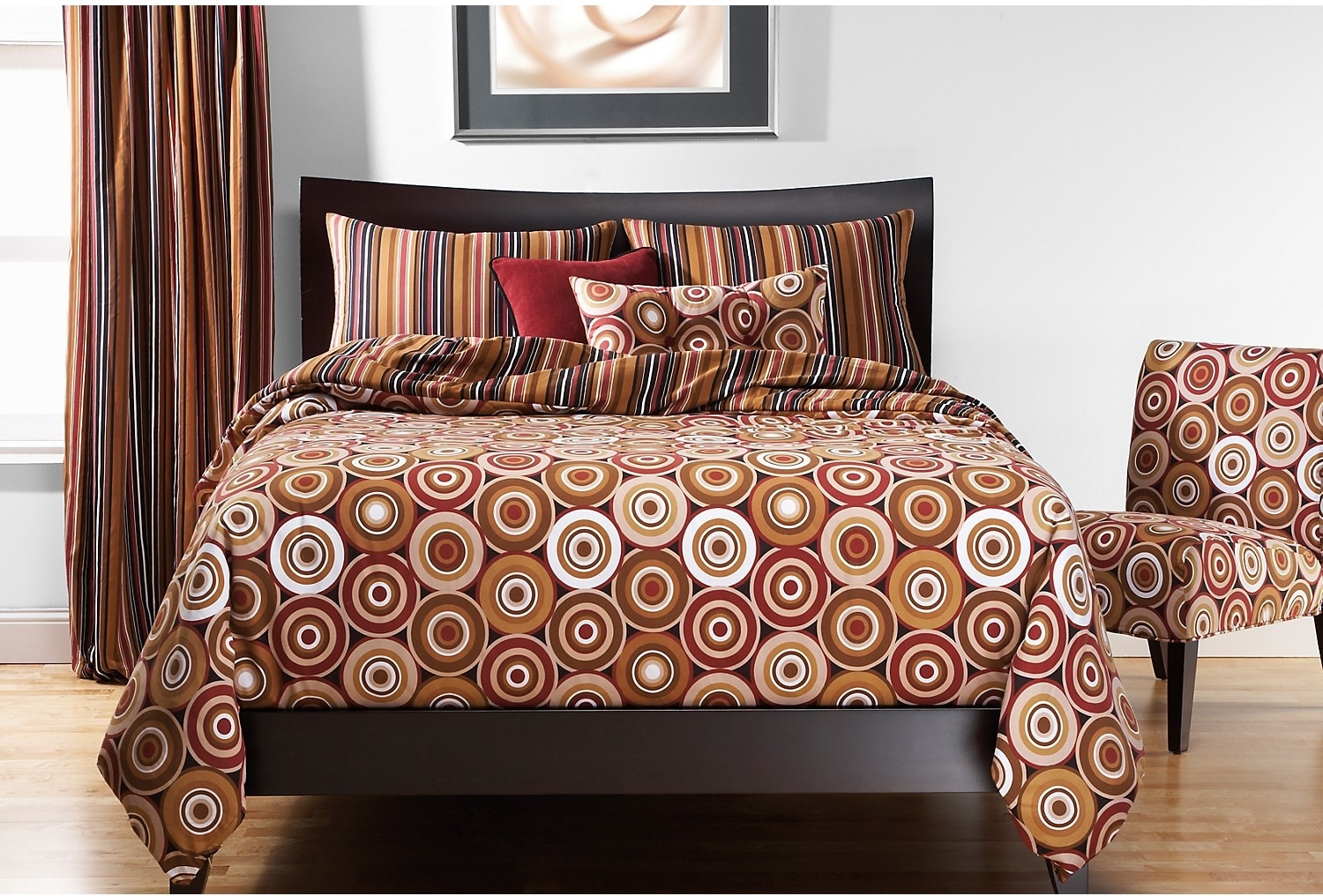 Accent and Occasional Furniture - Rocking Around Reversible 4 Piece Full Duvet Cover Set
