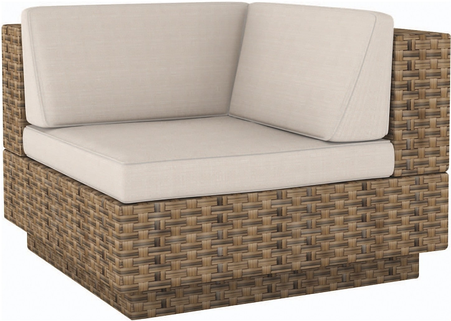 "Outdoor Furniture - Parkview Patio ""L"" Seat - Brown"